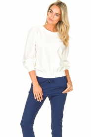 D-ETOILES CASIOPE |  Travelwear sweatshirt with puff sleeves Barbados | natural  | Picture 5