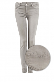 7 For All Mankind | Skinny jeans The Skinny met Swarovski lengtemaat 32 | licht grij  | Afbeelding 1