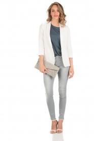 7 For All Mankind | Skinny jeans The Skinny met Swarovski lengtemaat 32 | licht grij  | Afbeelding 3