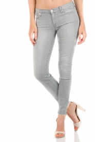7 For All Mankind | Skinny jeans The Skinny met Swarovski lengtemaat 32 | licht grij  | Afbeelding 2