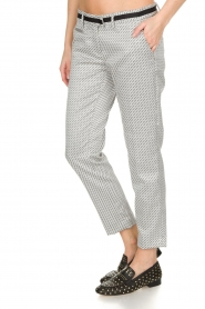 MASONS |  Trousers New York Slim | black/white  | Picture 4