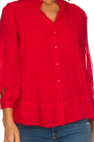 ba&sh |  Blouse  Fleur | red  | Picture 7