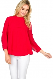 ba&sh |  Blouse  Fleur | red  | Picture 2