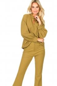 D-ETOILES CASIOPE |  Travelwear top Bora Bora | green  | Picture 4
