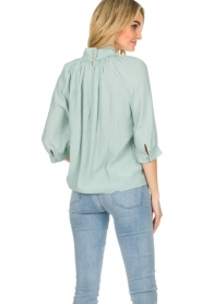 ba&sh |  Top with pleats Felicie | blue   | Picture 6