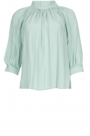 ba&sh |  Top with pleats Felicie | blue   | Picture 1