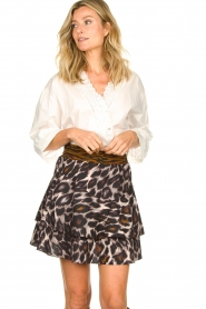 Dante 6 |  Leopard print skirt Wonderous | animal print  | Picture 2