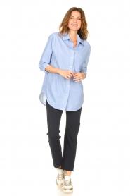 D-ETOILES CASIOPE |  Travelwear blouse Balou | blue  | Picture 3