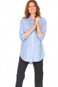 D-ETOILES CASIOPE |  Travelwear blouse Balou | blue  | Picture 2