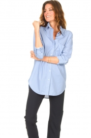 D-ETOILES CASIOPE |  Travelwear blouse Balou | blue  | Picture 6
