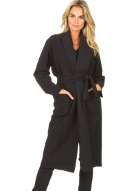 D-ETOILES CASIOPE |  Travelwear cloack jacket Barolo | black  | Picture 2