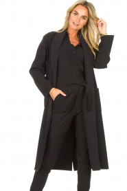 D-ETOILES CASIOPE |  Travelwear cloack jacket Barolo | black  | Picture 5