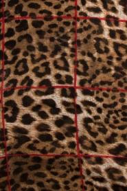 IKKS | Sjaal met panterprint Sofia| bruin  | Afbeelding 4