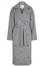 Copenhagen Muse    Wool coat with ring details Ring   grey    Picture 1
