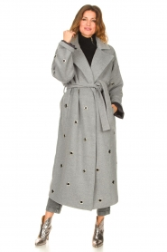 Copenhagen Muse    Wool coat with ring details Ring   grey    Picture 5