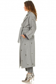 Copenhagen Muse    Wool coat with ring details Ring   grey    Picture 6