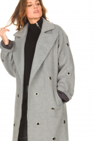 Copenhagen Muse    Wool coat with ring details Ring   grey    Picture 8