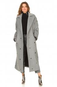 Copenhagen Muse    Wool coat with ring details Ring   grey    Picture 2