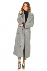 Copenhagen Muse    Wool coat with ring details Ring   grey    Picture 4