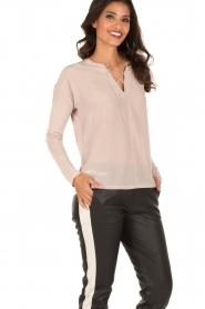 Set | Zijden blouse Ripley | Nude  | Afbeelding 3