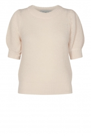 Copenhagen Muse |  Knitted sweater with puff sleeves Diva | creme  | Picture 1