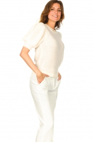 Copenhagen Muse |  Knitted sweater with puff sleeves Diva | creme  | Picture 6