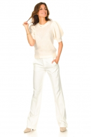 Copenhagen Muse |  Knitted sweater with puff sleeves Diva | creme  | Picture 3
