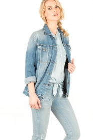 7 For All Mankind | Denim Trucker jas Victoria | blauw   | Afbeelding 4