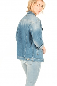 7 For All Mankind | Denim Trucker jas Victoria | blauw   | Afbeelding 5