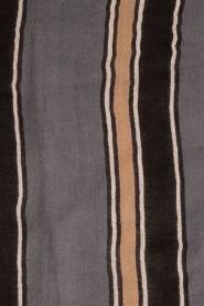 Becksöndergaard | Sjaal Maelynn | zwart en grijs   | Afbeelding 4