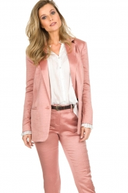 ba&sh |  Satin blazer Darcy | pink  | Picture 2