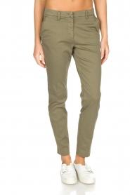 MASONS | Pantalon New York | Groen  | Afbeelding 2