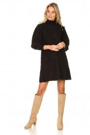 Silvian Heach |  Knitted balloon sleeve dress Maverix | black  | Picture 3