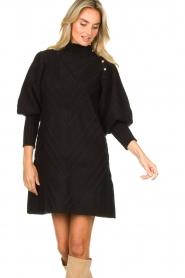 Silvian Heach |  Knitted balloon sleeve dress Maverix | black  | Picture 4