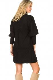 Silvian Heach |  Knitted balloon sleeve dress Maverix | black  | Picture 7
