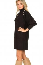 Silvian Heach |  Knitted balloon sleeve dress Maverix | black  | Picture 5