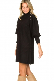 Silvian Heach |  Knitted balloon sleeve dress Maverix | black  | Picture 6