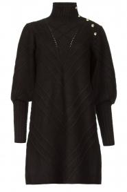 Silvian Heach |  Knitted balloon sleeve dress Maverix | black  | Picture 1