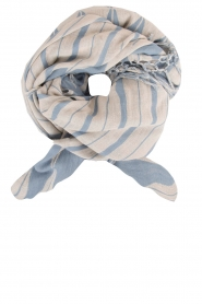 Scarf Satin | blue and white