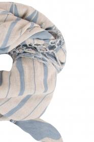 Becksöndergaard | Sjaal Satin | blauw en wit   | Afbeelding 3