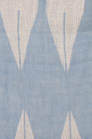 Becksöndergaard | Sjaal Satin | blauw en wit   | Afbeelding 4