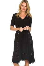 ba&sh |  Midi dress Flavie | black  | Picture 2