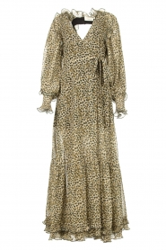 Copenhagen Muse |  Maxi dress with split Frill | green  | Picture 1