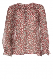ba&sh |  Blouse with floral print Beatrix | red  | Picture 1
