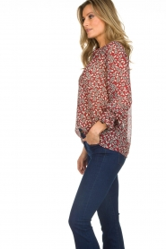 ba&sh |  Blouse with floral print Beatrix | red  | Picture 6