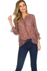 ba&sh |  Blouse with floral print Beatrix | red  | Picture 4
