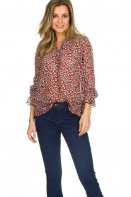 ba&sh |  Blouse with floral print Beatrix | red  | Picture 2