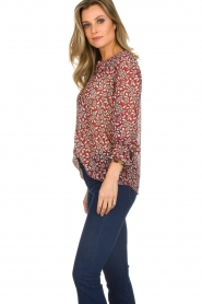 ba&sh |  Blouse with floral print Beatrix | red  | Picture 5