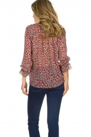 ba&sh |  Blouse with floral print Beatrix | red  | Picture 7