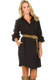 Copenhagen Muse |  Dress with lace Madelyn | black  | Picture 2